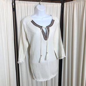 Lilla P Umgee BoHo tunic size large 3/4 sleeves